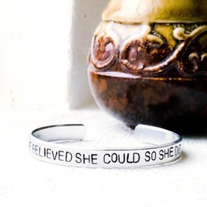 Hand Stamped Trinkets Bracelet Bracelets With Sayings On Them  {You Personalize}