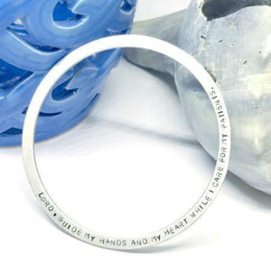 Hand Stamped Trinkets Bracelet Custom Small Wrist Bangle Bracelets - Personalized Name or Quote