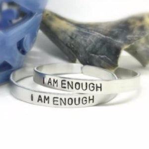 Hand Stamped Trinkets Bracelet I Am Enough Bracelet Bangle Jewelry