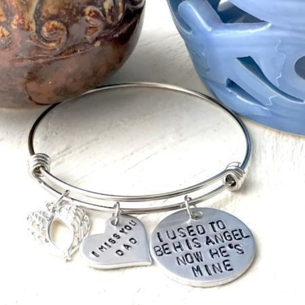 Hand Stamped Trinkets Bracelet In Memory Of Sympathy Gift Jewelry