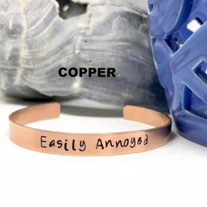 Hand Stamped Trinkets Bracelet Jewelry with Engraved Quotes | Motivational Bracelets