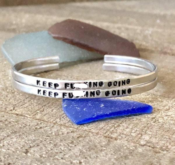 Hand Stamped Trinkets Bracelet Life Bracelets - Custom Word Statement Jewelry