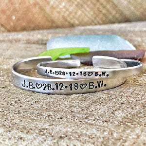Hand Stamped Trinkets Bracelet Matching Relationship Bracelets for Couples