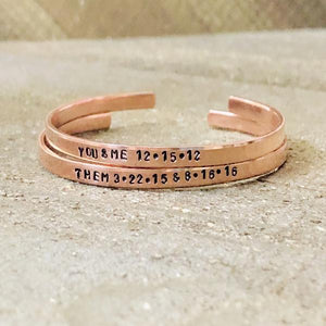 Hand Stamped Trinkets Bracelet Personalized Bracelets with Sayings | Inspirational Quotes