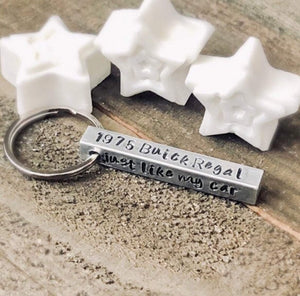 Hand Stamped Trinkets Keychain Gift For New Car Owner | Car Accessories Gift