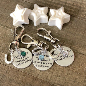 Hand Stamped Trinkets Keychain Personalized Halter Tags | Horse Bridle Charm