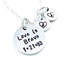 Hand Stamped Trinkets Necklace Birth Mother Gifts Adoption Day - Personalized