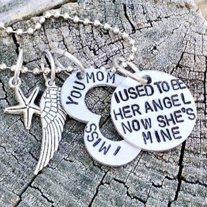 Hand Stamped Trinkets Necklace Memorial Jewelry Gifts for Loss of Mother