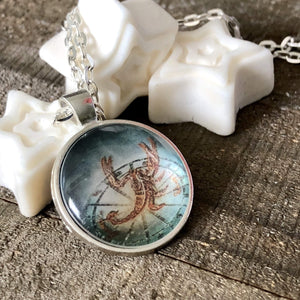 Hand Stamped Trinkets Necklace Scorpio Zodiac Constellation Pendant Necklace - Scorpion