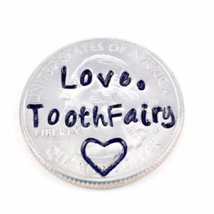 Hand Stamped Trinkets Tooth Fairy Coins, Personalized