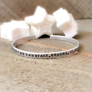 HandStampedTrinkets Bracelet Custom Pet Memorial Pet Loss Gifts Bracelet