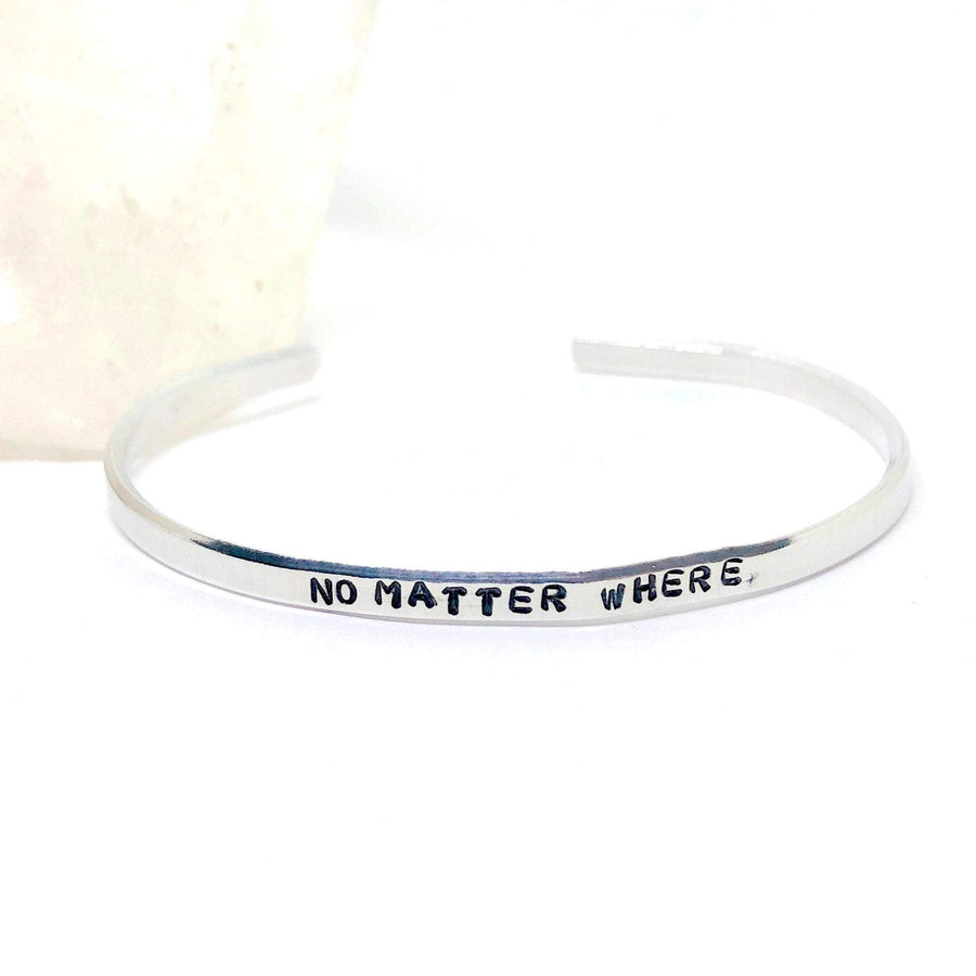 HandStampedTrinkets Bracelet Long Distance Friendship Bracelet - No Matter Where