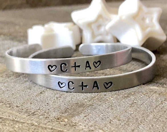HandStampedTrinkets Bracelet Matching Boyfriend and Girlfriend Bracelets - Personalized