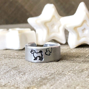 HandStampedTrinkets Jewelry Dog Rings for a Pet Lover Gift