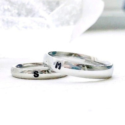 HandStampedTrinkets Rings Matching Couples Set Purity Rings