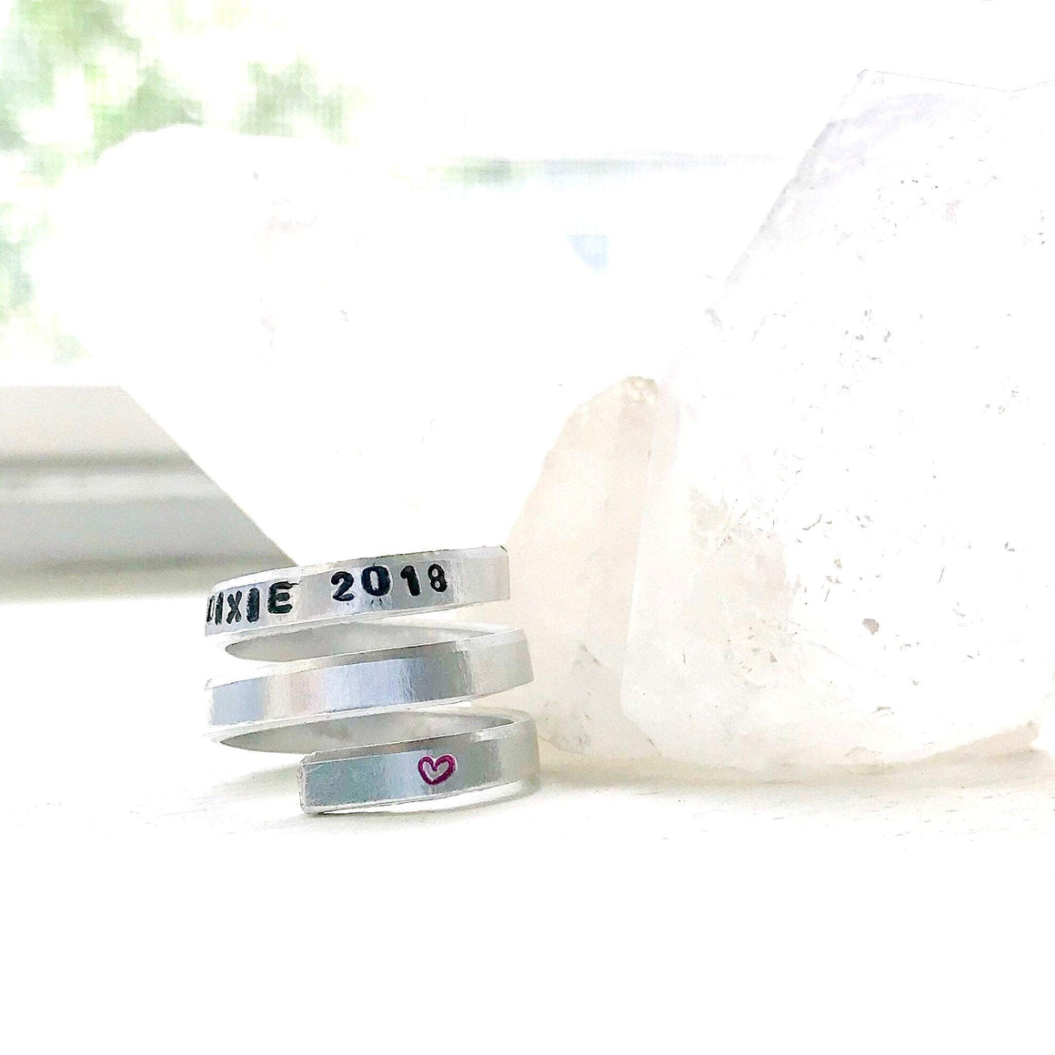 HandStampedTrinkets Rings Pet Memory Gifts- Adjustable Ring, Loss of Dog or Cat