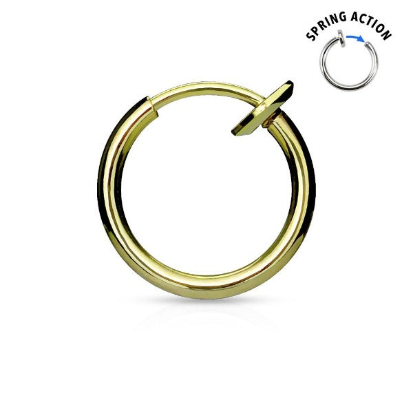 Gold Fake Nose Ring Hoop