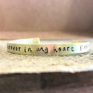 Forever in My Heart Bracelet - Condolence Gift for a Lost Loved One