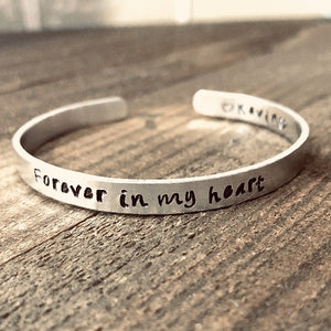 Forever in My Heart Bracelet - Sympathy gift for loss of loved one