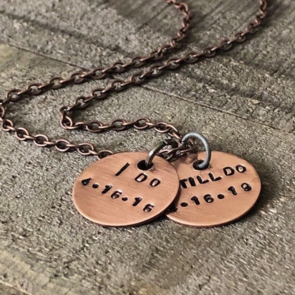 Copper I still do any year anniversary gift key chain for him or her