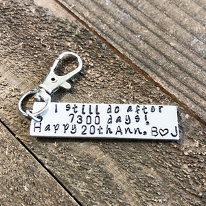 I still do any year anniversary gift key chain for him or her