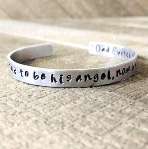 I used to be his angel now he's mine sympathy bracelet