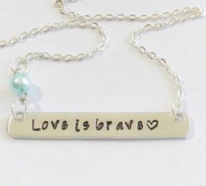 love is brave - hand stamped trinkets