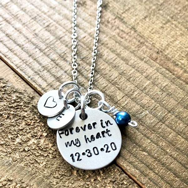 loss of loved one keepsake - Hand Stamped Trinkets