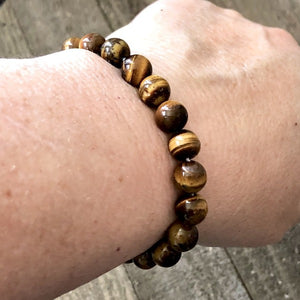 Men's Tiger Eye Beaded Bracelet