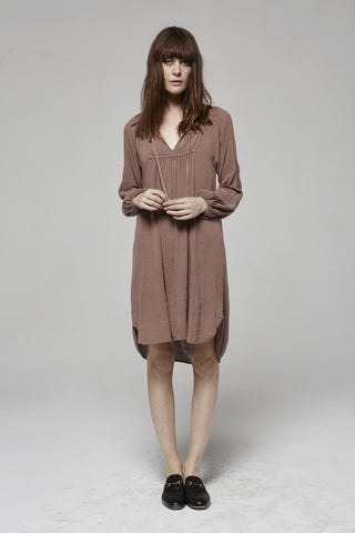 Silk Noil - SAHARA BELL SLV DRESS