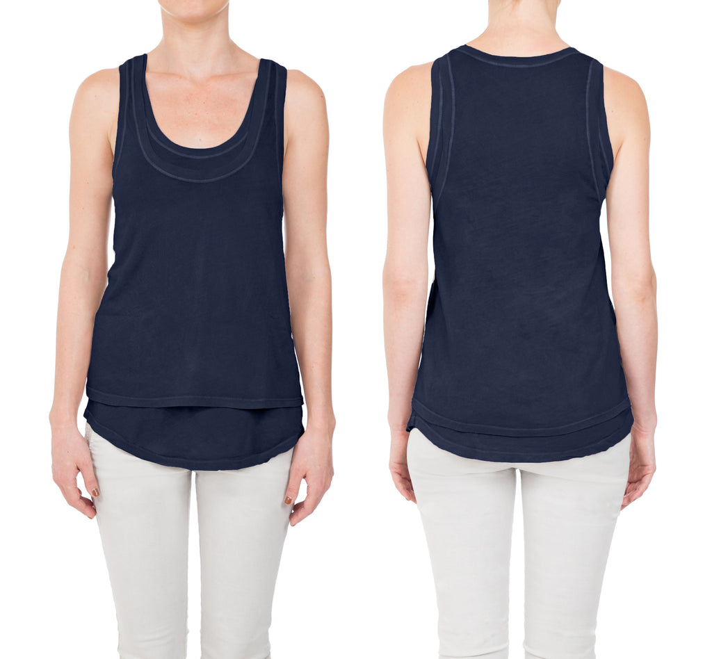 Micro Jersey Double Layer Tank