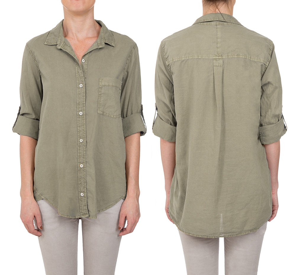 Cotton Voile Pigment Boyfriend Shirt