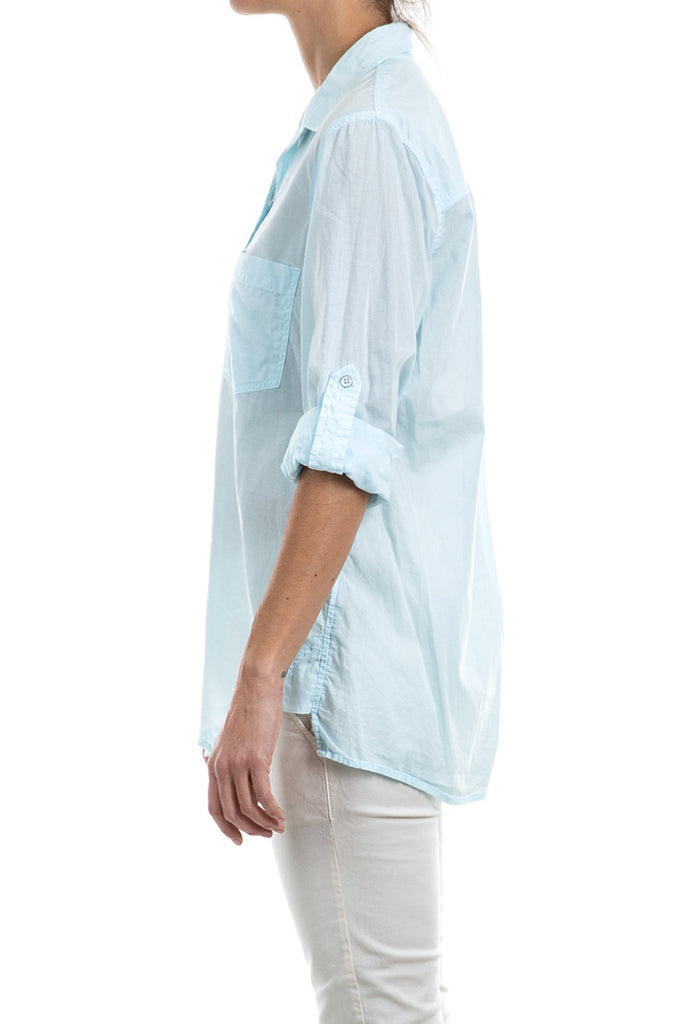 Cotton Voile Reactive Boyfriend Shirt