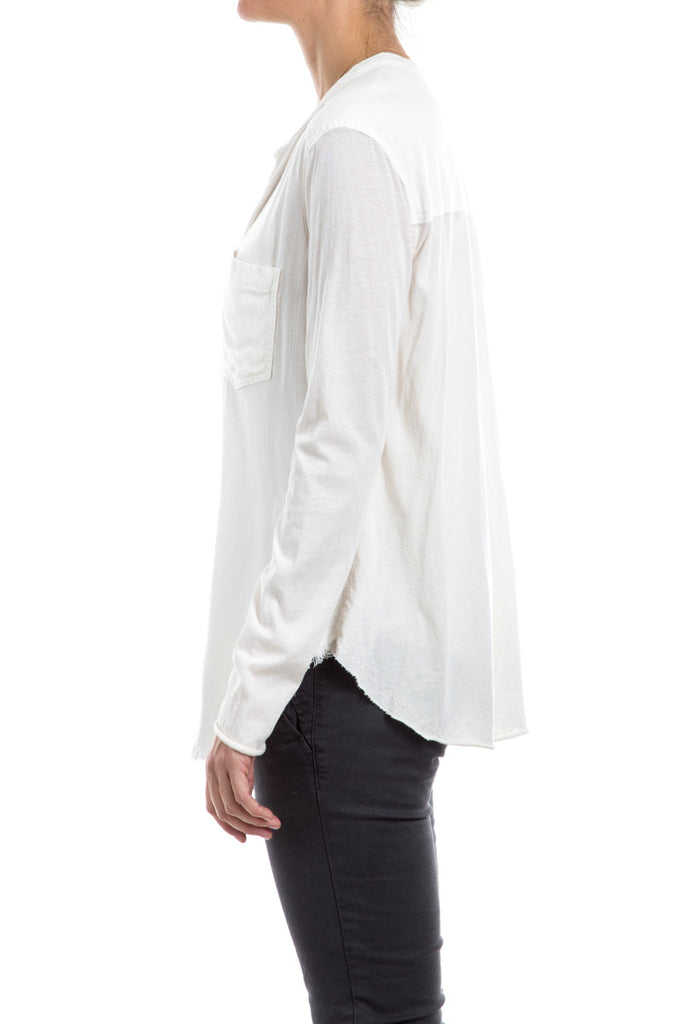 SLUB CROSS HATCH - CONTRAST PULLOVER