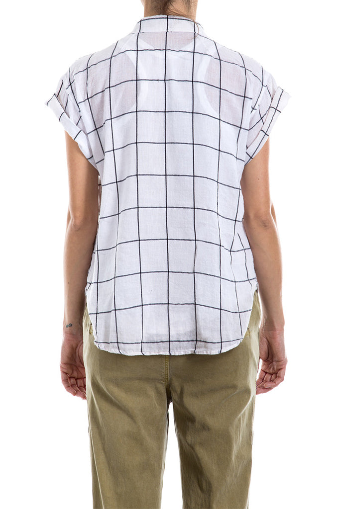 Cotton Check - ROLL SLV POCKET SHIRT