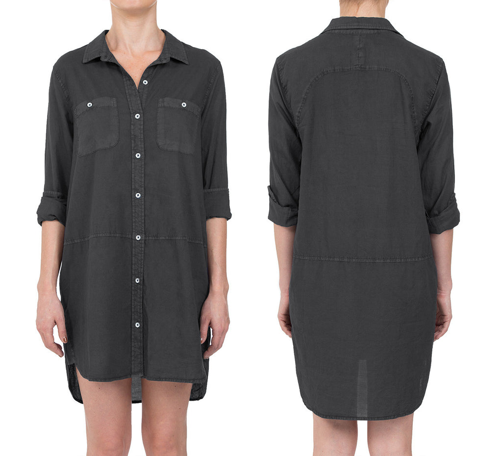 COTTON VOILE PIGMENT CYNJIN SHIRT DRESS