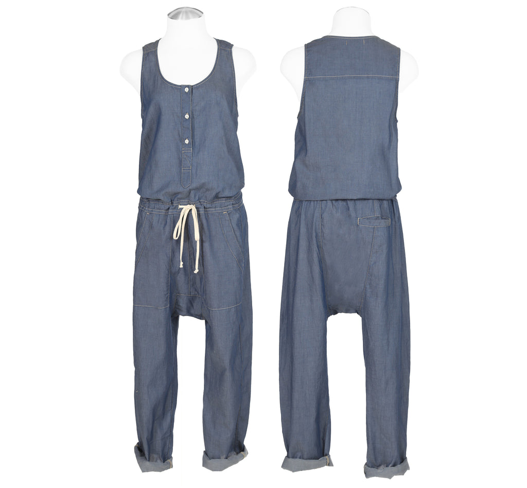 Featherweight Denim CYNJIN DROP CROTCH ROMPER