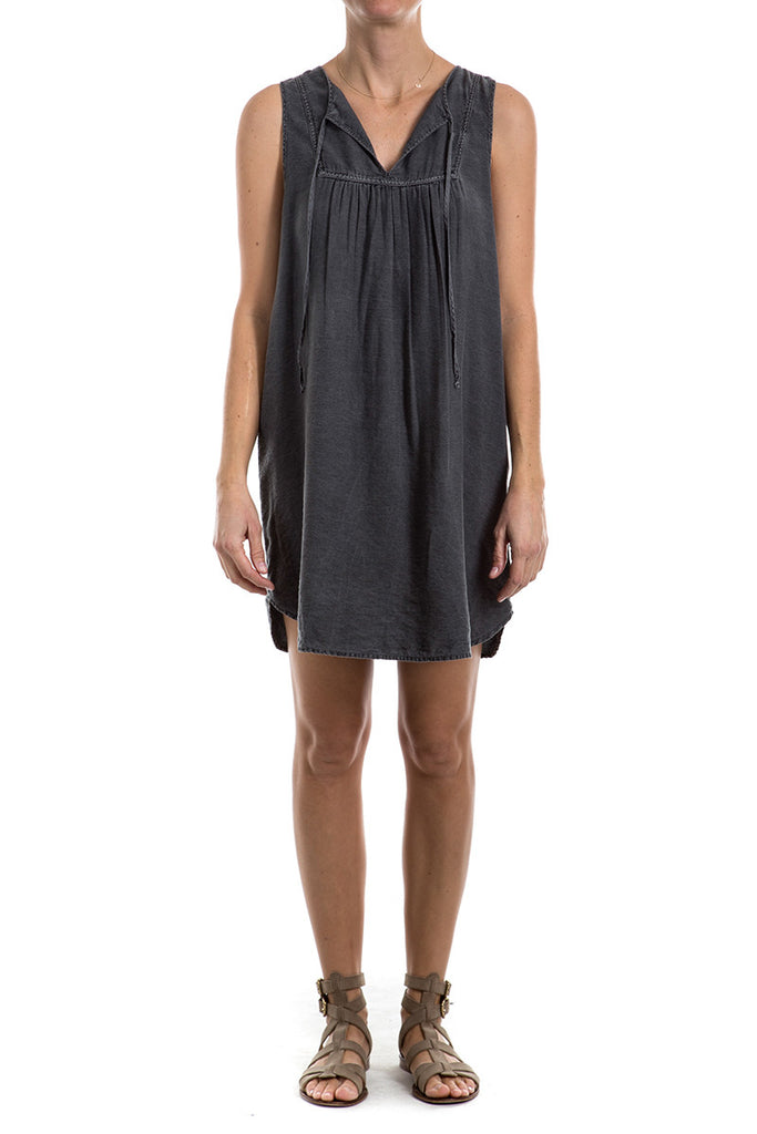Viscose/Nylon - SHIRRED TANK DRESS