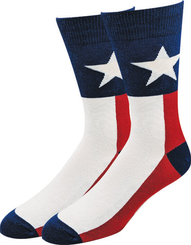 Texas Flag Socks