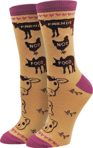 Friends Not Food Socks