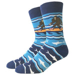 Surfing Bigfoot Socks