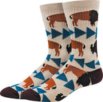 Yellowstone Bison Active Socks
