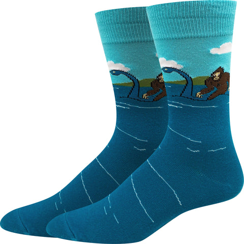 Bigfoot and Loch Ness Socks