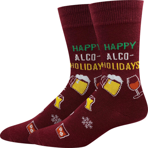 Happy AlcoHolidays Socks