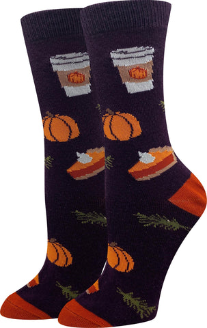 Pumpkin Spice Latte Socks