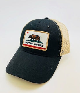 CA Bear Flag Patch Snap Back Hat