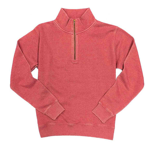 Vintage Wash Quarter Zip Sweater