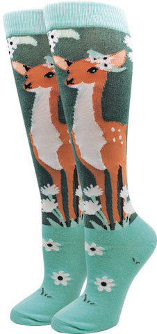 Oh Deer Knee High Socks