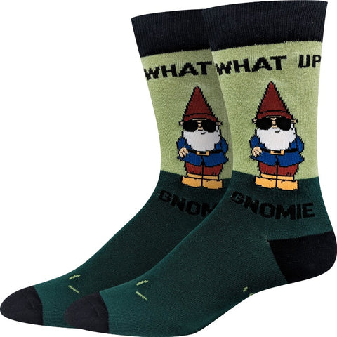 What Up Gnomey Socks