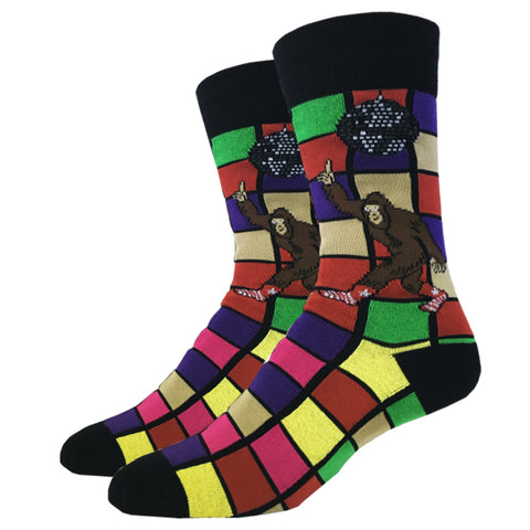 Disco Bigfoot Socks